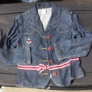 Gymboree girls sailor denim jacket size 7